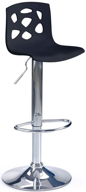 HALMAR barová stolička H48 čierná