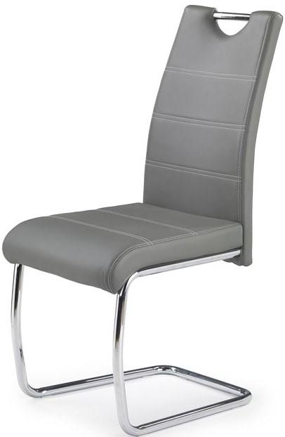 95f8b2722fe8d Jedálenská stolička K211 sivá - Kovová kostra, čalú