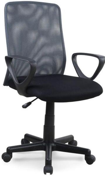HALMAR Kancelárska stolička ALEX čierno-sivý.