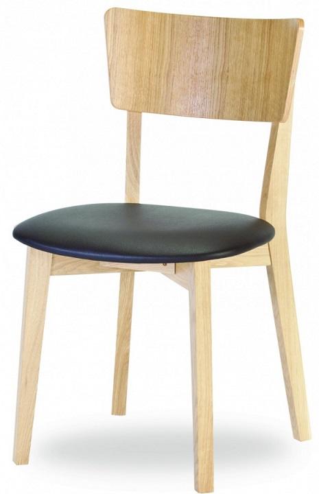 MI-KO jedálenská stolička Dimmy dub masív-látka