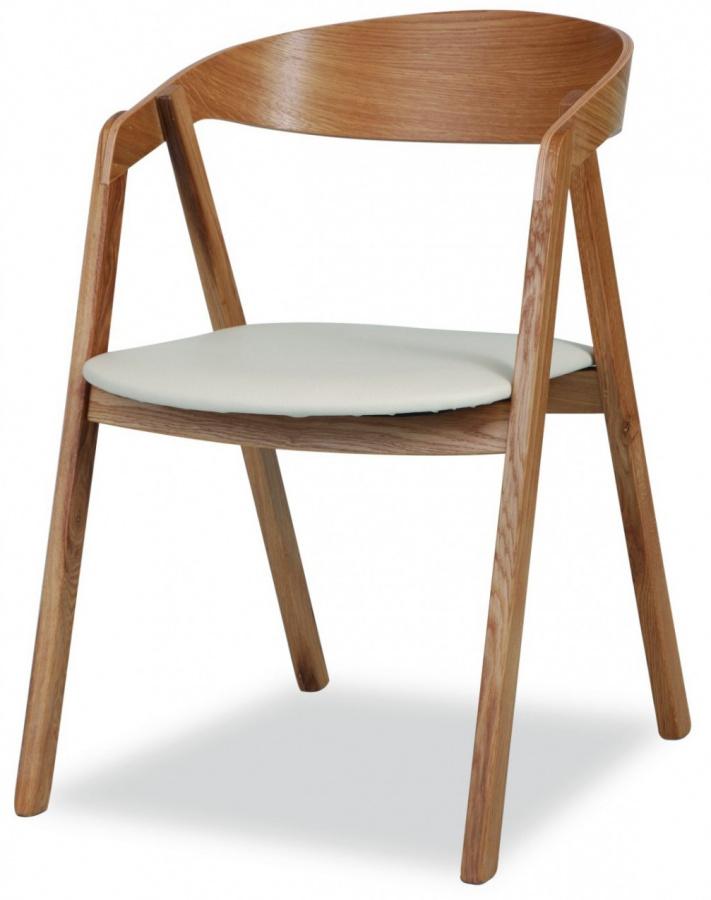 MI-KO jedálenská stolička Guru dub masív-látka