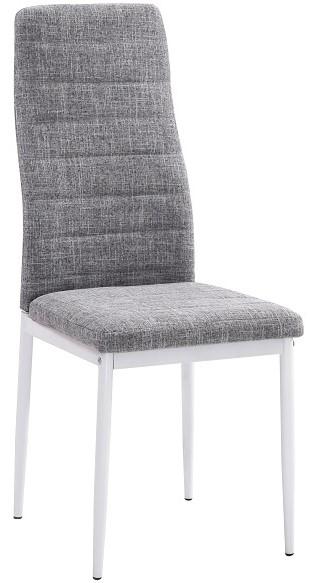 TEMPO KONDELA jedálenská stolička COLETA NOVA svetlošedá tkanina/bielá podnož