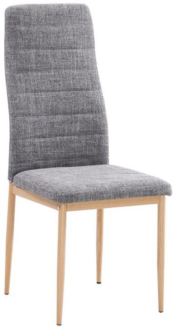 TEMPO KONDELA jedálenská stolička COLETA NOVA svetlošedá látka/buk