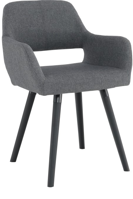 TEMPO KONDELA jedálenská stolička GODRIC tmavo šedá / čierná