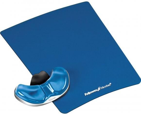 PALA Podložka pod myš a zápästie Fellowes Palm Health-V CRYSTAL gélová Microban modrá