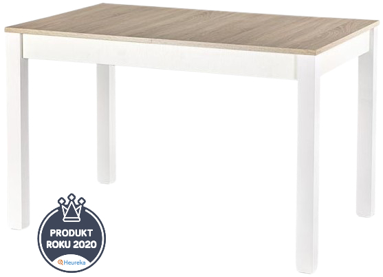 HALMAR skládací stôl Maurycy dub sonoma a bílá