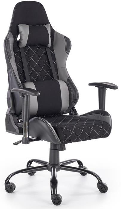 HALMAR herní židle DRAKE sivo-čierna
