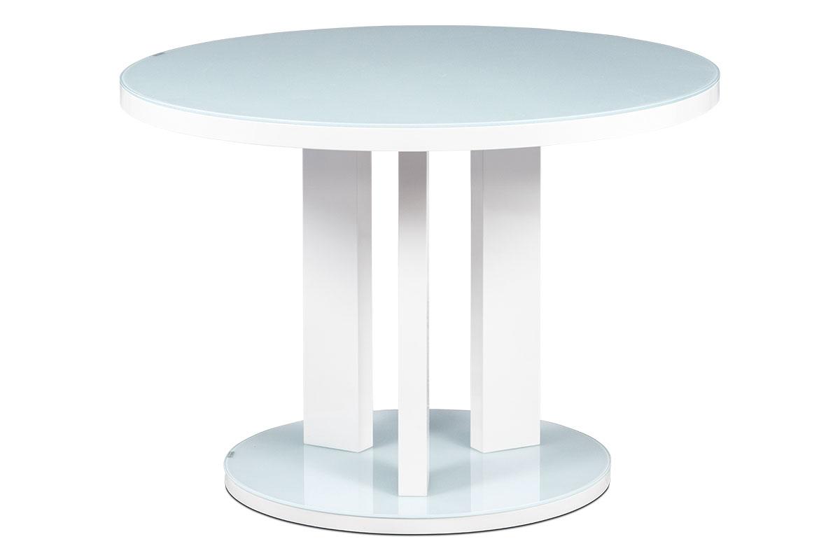 AUTRONIC jedálenský stôl AT-4004 WT, pr. 108 cm