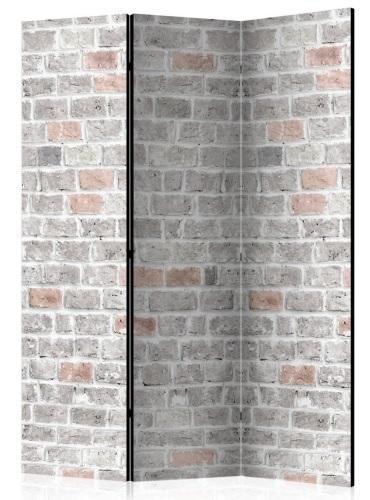 Murando DeLuxe Paraván šedá tehlová stena 3 dielna
